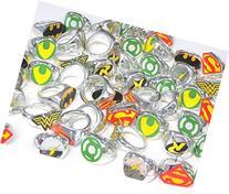 DC Superhero Novelty Power Rings 4 Dozen