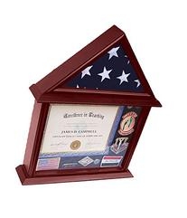 DECOMIL - 3x5 Flag Display Case with Certificate and