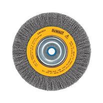DEWALT DW4906 8-Inch Crimped Bench Wire Wheel, 5/8 Arbor,