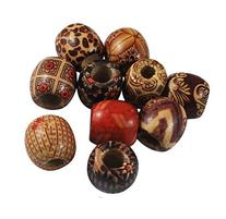 DIY Jewelry Making: 24pcs of Large Size Wood Beads, Lead