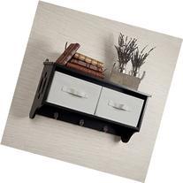 Danya B. Entryway Storage Wall Shelf with Canvas Bins and