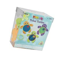 Darice Tribal Turtle Craft Foam Activity Bucket makes 24 pc
