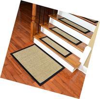 Dean Attachable Non-Skid Sisal Carpet Stair Treads - Desert/