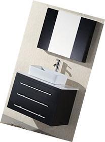 Design Element Elton Wall-Mount Single Vessel Sink Vanity
