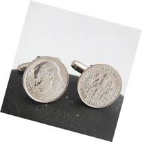 Dime Cufflinks with Uncirculated 2015 Dimes for Your Wedding
