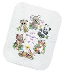 Dimensions Needlecrafts Stamped Cross Stitch, Baby Animals