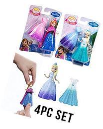 Disney Frozen Magiclip Anna and Elsa 4pcs Doll Set