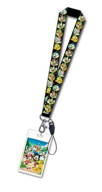 Disney Mickey & Gang Black Lanyard with Card Holder