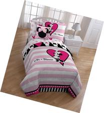 Disney Minnie Classic Hearts and Dots Comforter, Full