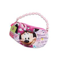 "Disney Minnie Mouse Mini 8"" Long Handbag W/Beaded Handle"