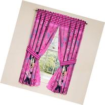 Disney Minnie Mouse Window Panels Curtains Drapes Pink Bow-