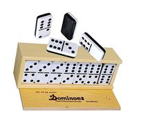 Dominoes Double 6, Tournament Size, Two Toned with Spinner
