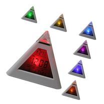 Domire 7 LED Color Change Pyramid Digital Alarm Clock