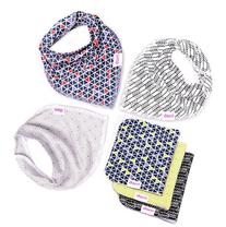 Baby Bandana Bibs and Burp Cloths | Unisex 6 Pack | Soft