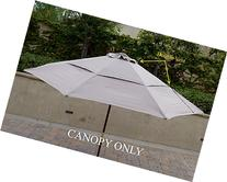 Double Vented Replacement umbrella canopy for 11ft 8 ribs in