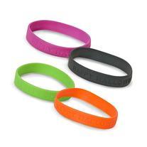 Dozen Assorted Color Happy Halloween Rubber Band Bracelets