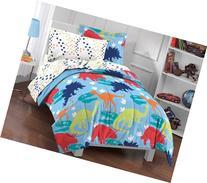 Dream Factory Dinosaur Prints Boys Comforter Set, Multi-