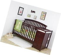 Dream On Me Niko 5-in-1 Convertible Crib with Changer,