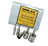 """Drilax™ 5 Pcs Diamond Drill Bit Set 3/8"""", 1/2"""" , 5/8"""", 3/4"""