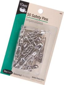 Safety Pins 50-Pack: Sizes 00,1,2,3