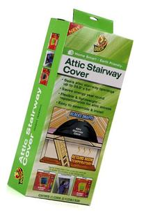 Duck Brand Attic Stairway Cover, 25.5 x 54 inches, Black
