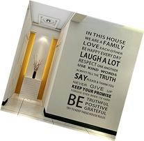 EMIRACLEZE Christmas Gift We are Family Quote English Letter