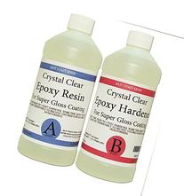 EPOXY RESIN CRYSTAL CLEAR 32 oz Kit. FOR SUPER GLOSS COATING