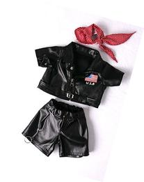 "Easy Rider Biker Outfit Teddy Bear Clothes Fit 14"" - 18"""