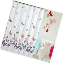 Eforcurtain Butterflies Print Bath Curtain Waterproof/Mildew