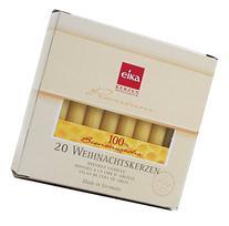 Eika Box of 20 Finest Beeswax Tree Candles Honey Yellow 100