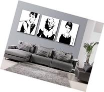 Espritte Art-Large Classic Marilyn Monroe and Audrey Hepburn