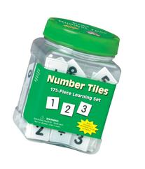 "Eureka Tub Of Number Tiles, 175 Tiles in 3 3/4"" x 5 1/2"" x 3"