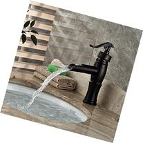 BWE Waterfall Oil Rubbed Bronze Bathroom Sink Faucet