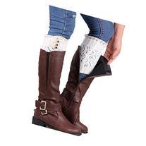 FEITONG Fashion Winter Women Lace Stretch Boot Leg Warmer