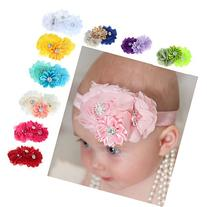 FEITONG 10PC Babys Girl Headband Hairband Chiffon Flower