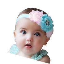 FEITONG Lovely Baby Girls Headbands Rhinestone Flower