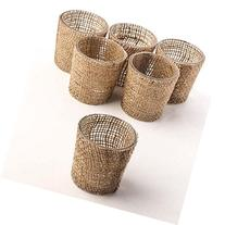 Factory Direct Craft Package of 6 Trendy Burlap Covered
