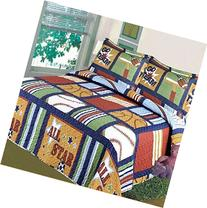 Fancy Collection Blue Red Green Sport Kids/teens 5 Pc Quilt