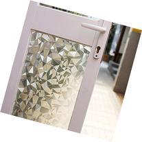 Fancy-fix Privacy Window Film Non-adhesive Static Decorative