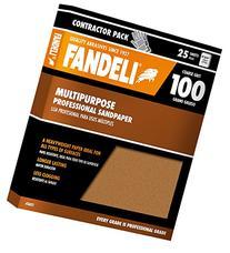 "Fandeli 36025 100 Grit Multipurpose Sandpaper Sheets, 9""  x"
