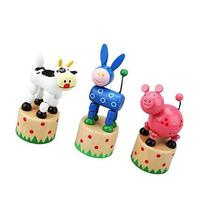 Farm Animal Push Puppet Toy Assorted Designs