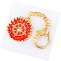 Fengshui Magic Fire Flaming Wheel Keychain Amulet Hanging