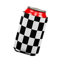 Finish Line Checkered Flag All Over Can Cooler