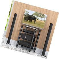 Fitueyes 4-tier Media Component Stand Audio Cabinet with