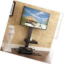 FITUEYES Universal tv Stand with Mount Two Shelves for