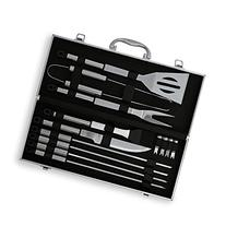 Flamen 14 Piece Stainless Steel BBQ Barbecue Grill Tool Set