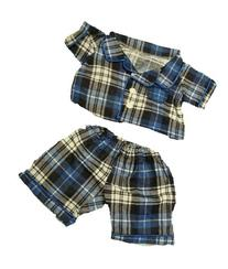 "Flannel PJ's Clothes Outfit Fit 14"" - 18"" Build-A-Bear,"