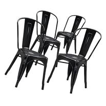 Flash Furniture Distressed Metal Indoor Stackable Chair ,