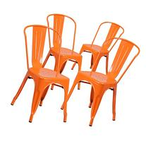 Flash Furniture Metal Indoor/Outdoor Chair , Orange