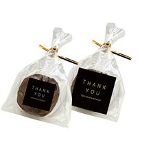 """Flat Cellophane Bags with """"Thank You"""" Square Sticker for"""